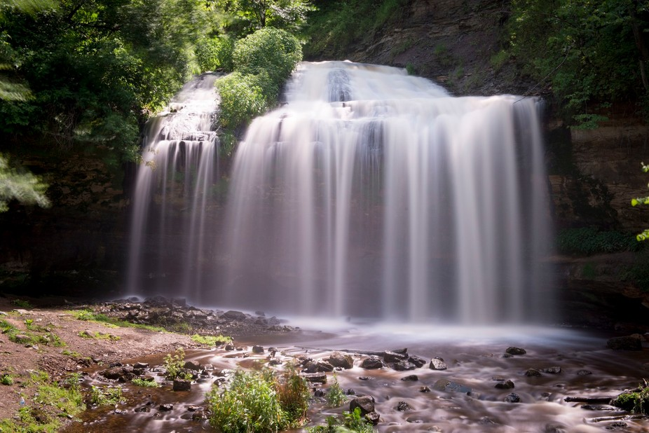 During a vacation in Minnesota my wife took me to Taylor's Falls. I set up my camera on ...
