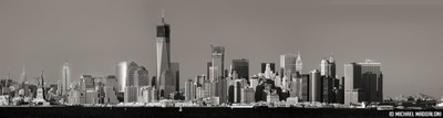 Freedom Tower Under Construction (Infrared B&W)