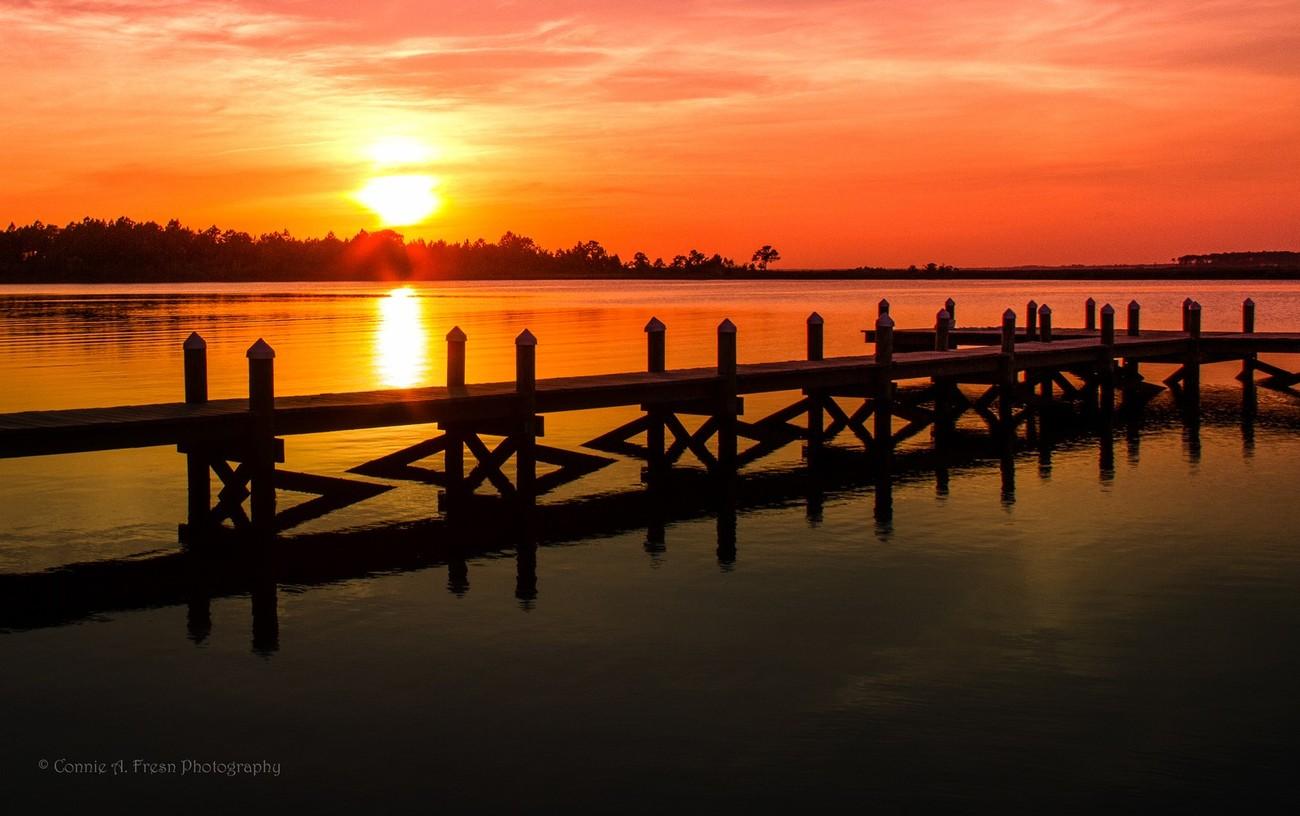 Archie Glover Pier at sunset