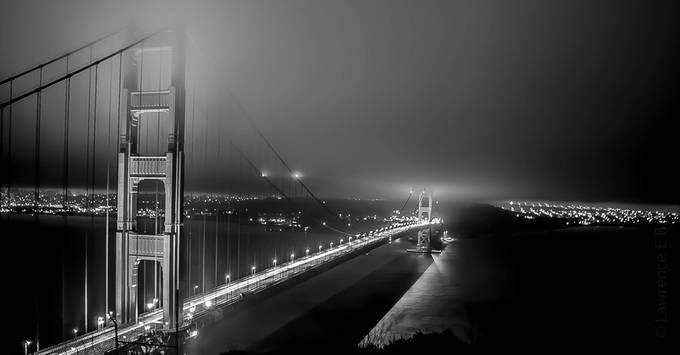 Golden Gate by Anm8ed - Black And White Landscapes Photo Contest