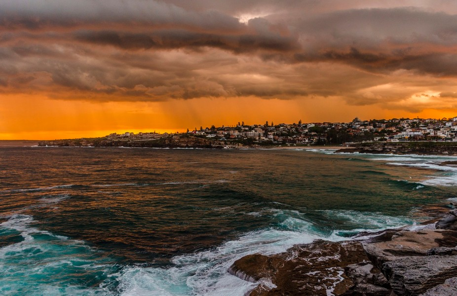 Storm clouds over Bronte Beach, Sydney