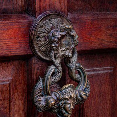 Door knocker at Dracula's castle, Romania, June 2014
