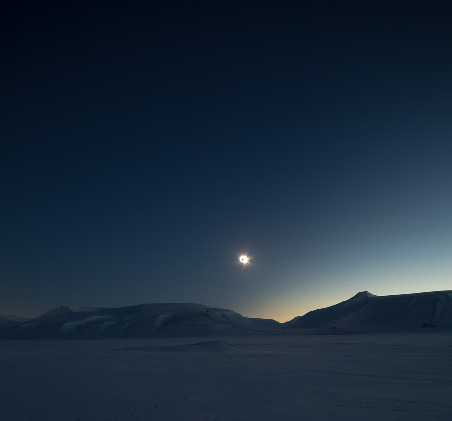 Total solar eclipse in Svalbard, March 20, 2016