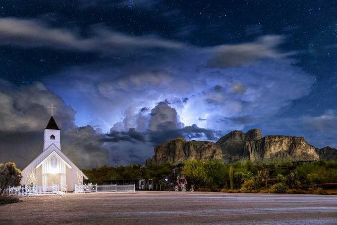 Electrifying Superstitious Night by ChasingLightLikeMad - Cloudy Nights Photo Contest