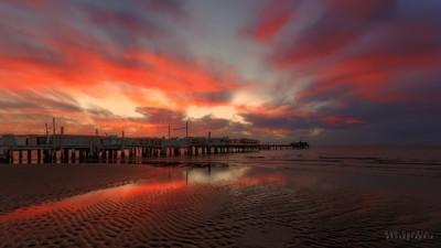 Sunset depuis la plage de Beauduc