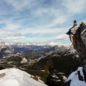 this one is taken mar.15  sulphur mountain - banff - alberta - canada selfie with an tripod :-)