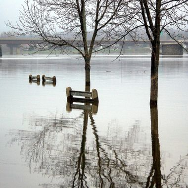 City of Fredericton, under water....Canada
