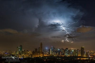 Lightning over Manila