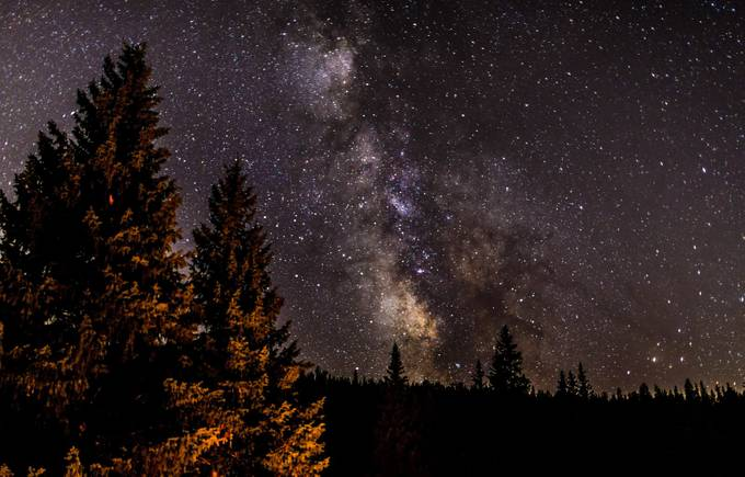Fire Light Both Near and Far by GabrielCarlsonCreations - Capture The Milky Way Photo Contest