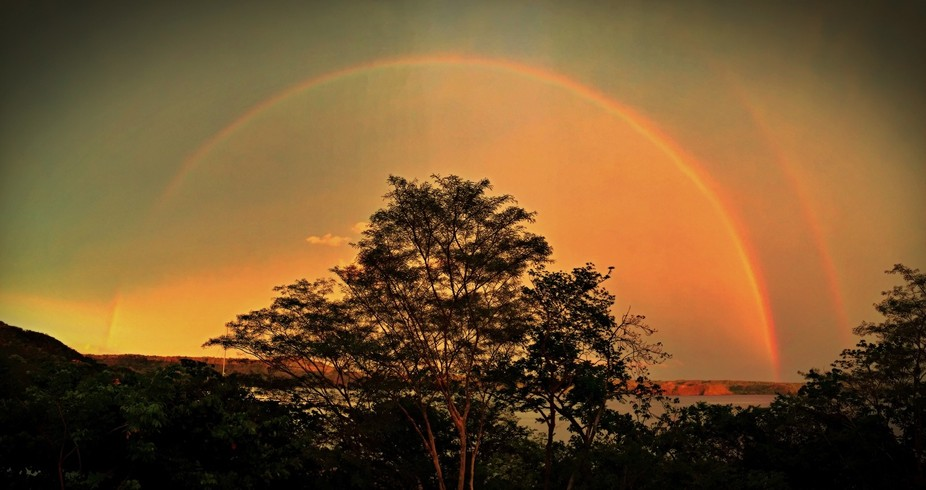 Last sunset in Costa Rica brouht double rainbow