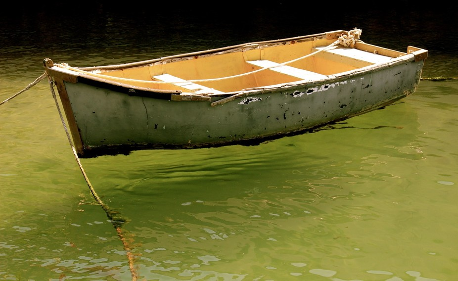 A forgotten boat in Simonstown harbour in S Africa