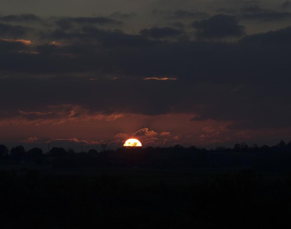 Dark Sunset Across the Valley Chez Nous