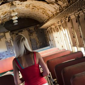 In an abandoned train car
