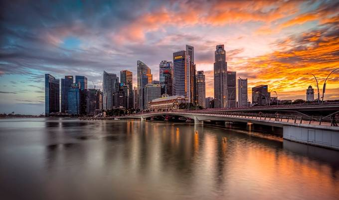 Glorious Skyline by GkCM - City Sunsets Photo Contest