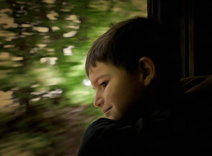 I took my 4 year old grandson on an old steam train in Connecticut.  He was in 7th Heaven!