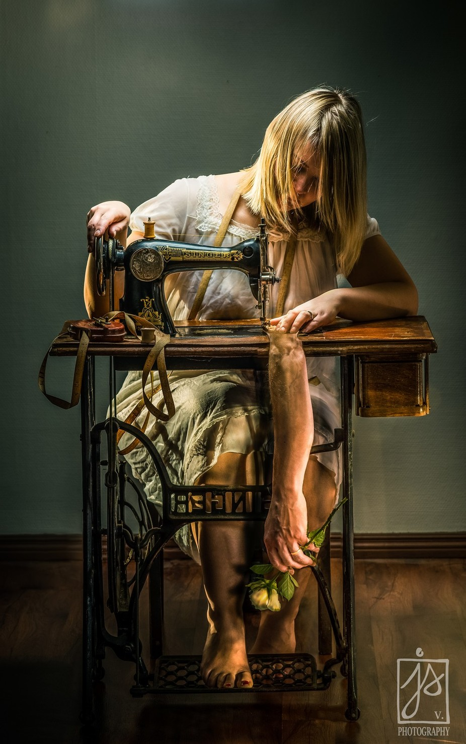 Sewing Her Dream by juhamattivahdersalo - The Magic Of Editing Photo Contest