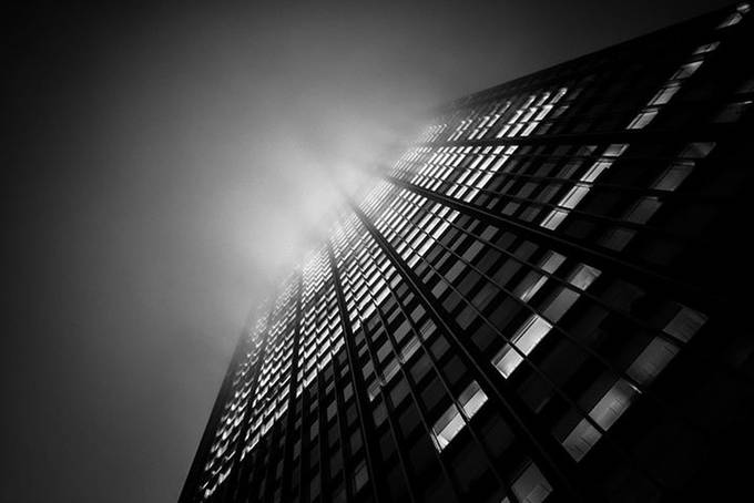 NYC fog by night by helenebernewitz - Black And White Architecture Photo Contest