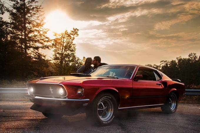 N, C & the Mustang by autumndarling - It Is Red Photo Contest