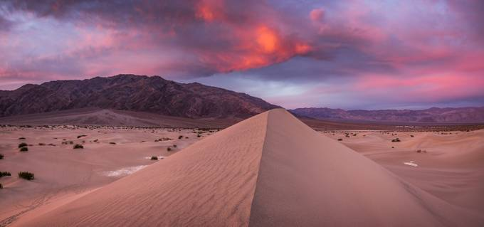Death Valley Dunes Sunrise (1 of 1) by Barparildar - Clever Angles Photo Contest