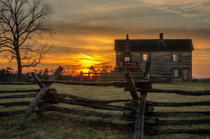 Manassas Sunset by rapowell71 - Fences Photo Contest