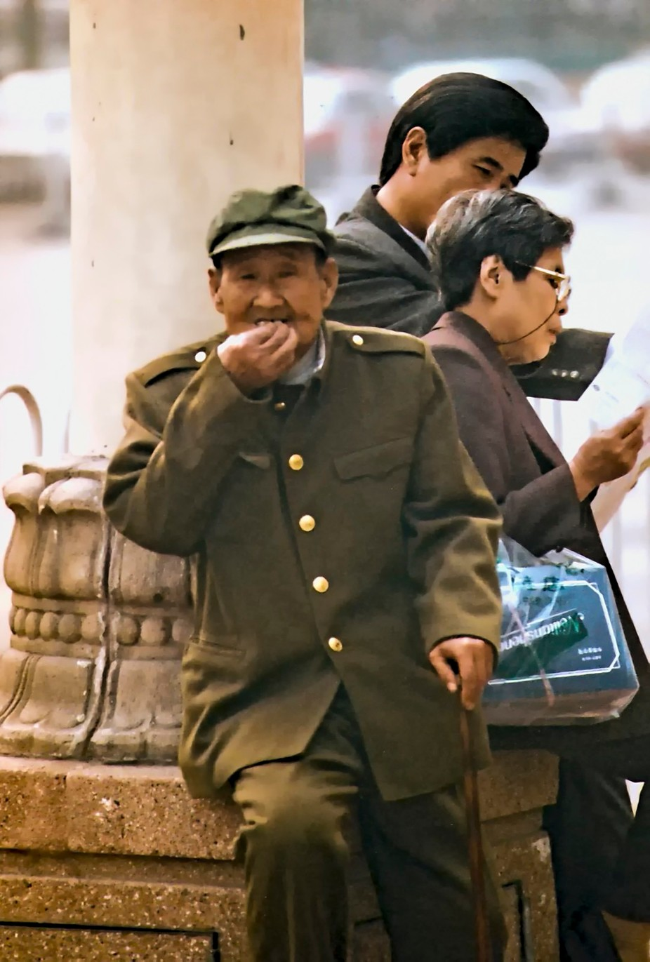 Taken in Bejing in 1999, this elderly man was proudly wearing his old uniform.