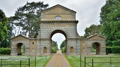 Holkham estates triumphal arch