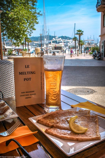 Beer on the boardwalk Cannes France