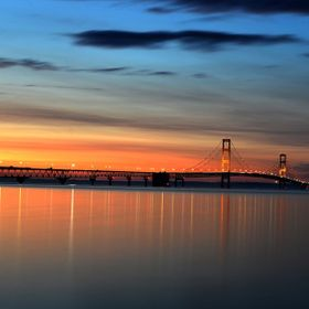 The Mackinaw Bridge.