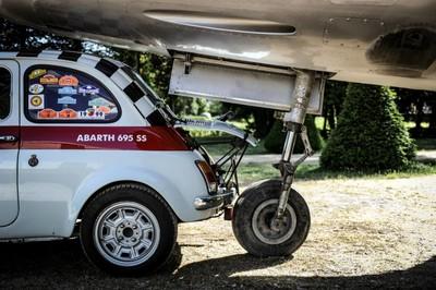Abarth 695 and Plane