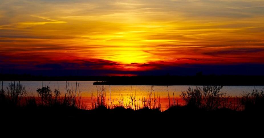 Sunset at Back Bay, Virginia Beach, VA