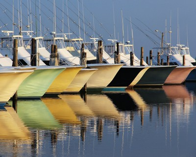 Oregon Inlet Boats and Reflections