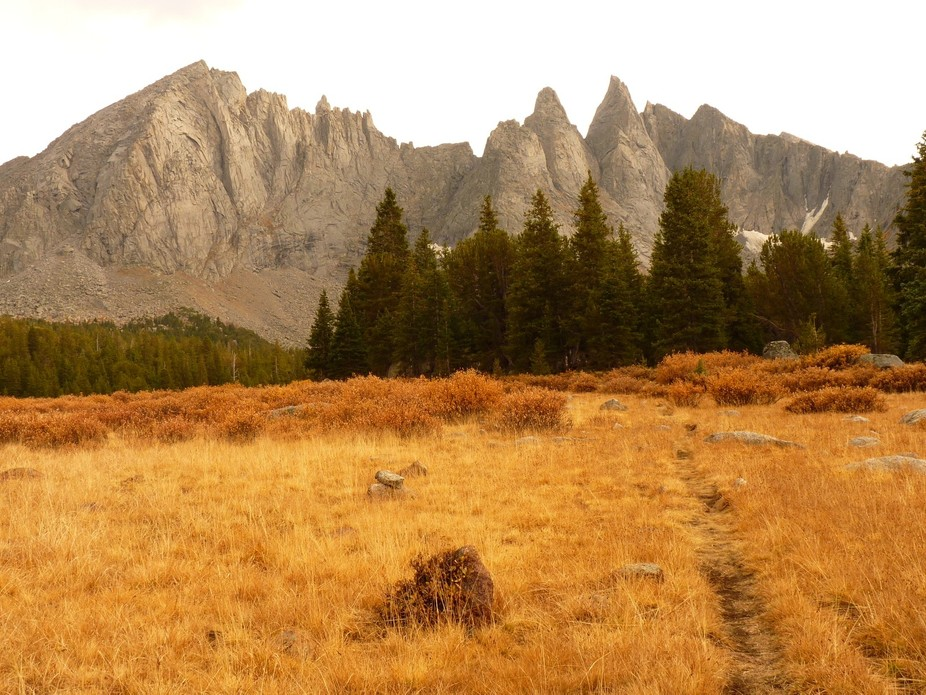 While backpacking in Wyoming's Wind River Range in the Fall, I enjoyed this landscape sc...