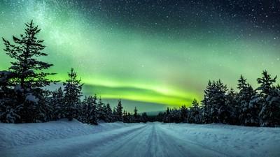 Illuminated road