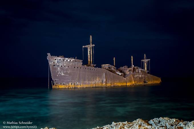 Greek Ship by tynn23 - Night Wonders Photo Contest