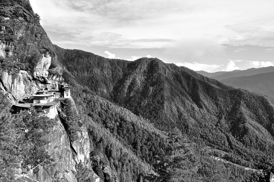 We climbed for two hours to reach the monastery which was perched in the cleft of a rock.