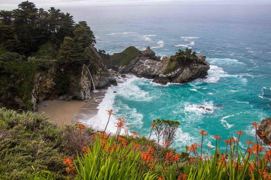 McWay Falls located on Hwy1 s/of Big Sur in California.