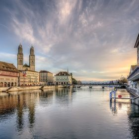 """Limmat Sunset"" Limmatquai 