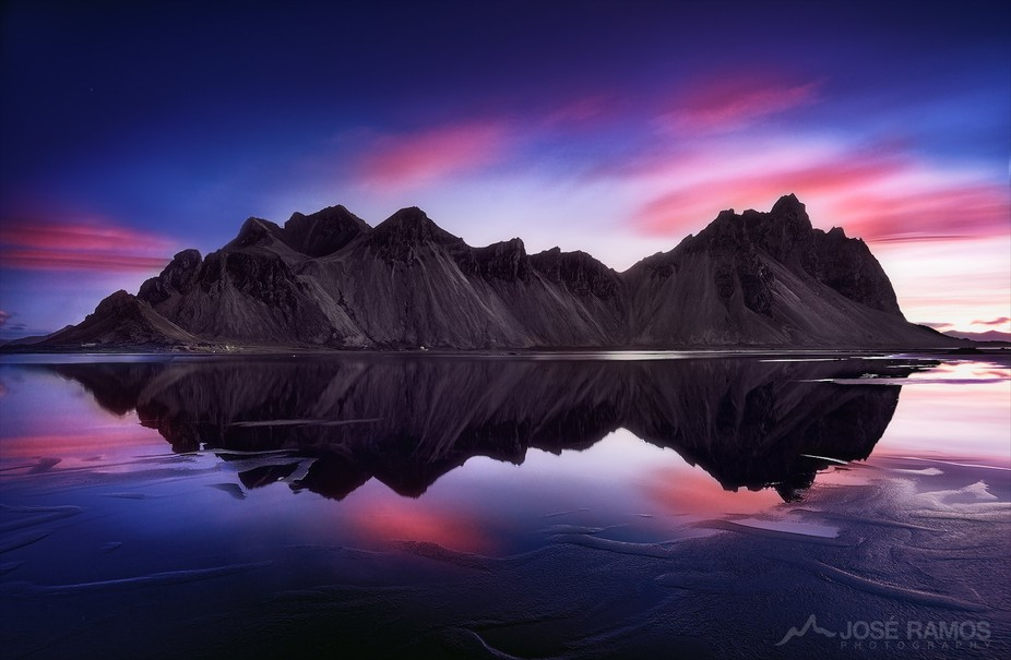 """Reverence""   The gorgeous Vestrahorn mountains in Iceland, during sunrise, aft..."