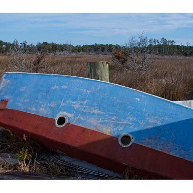 Red Blue Boat Border