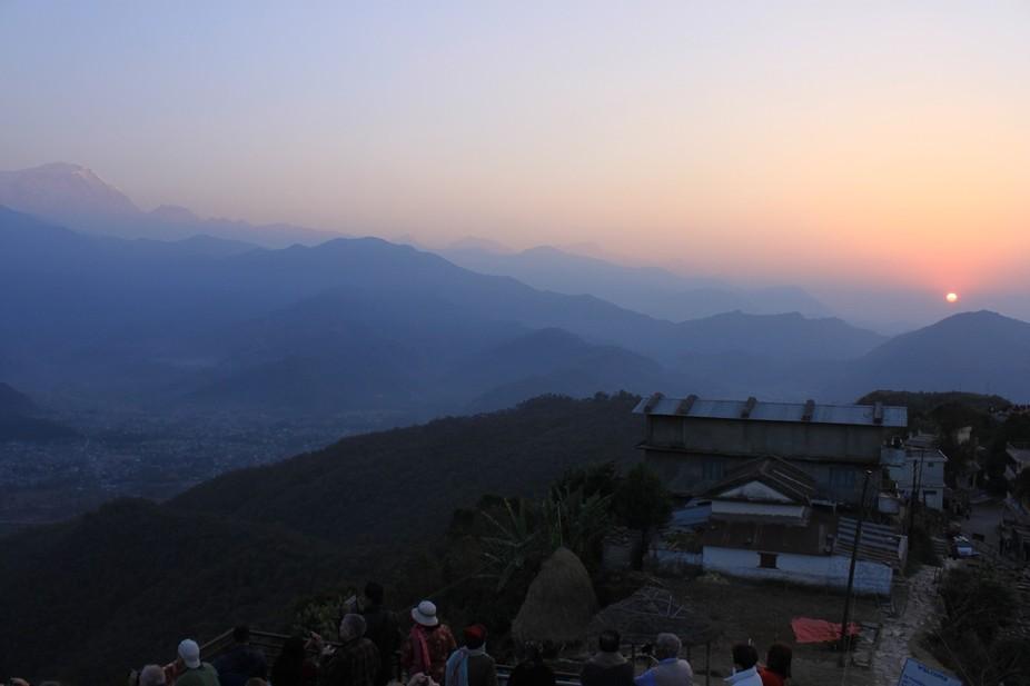 Himalaya Mountains at Sunrise