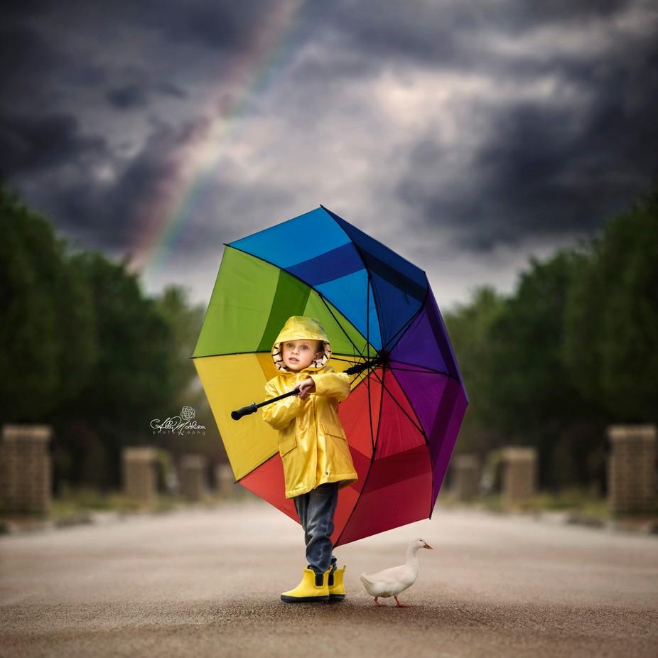 Rainy Day by AbbyMathison - Rainbows Overhead Photo Contest