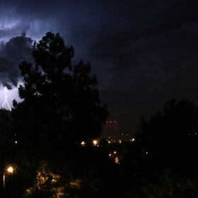 Photo taken from my balacont during a stormy night.