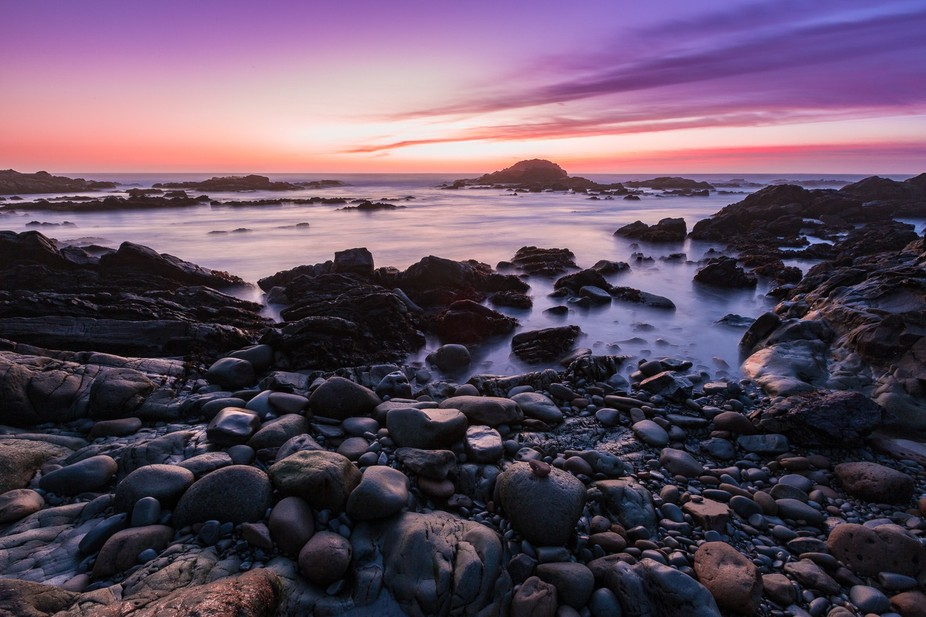 An amazing sunset near Bean Hollow State Beach in California. A recent storm cleared just in time...