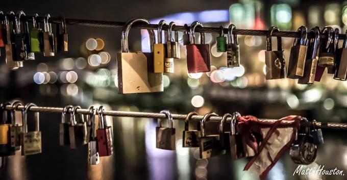 Love on the Locks by matthouston - Night And Bokeh Photo Contest
