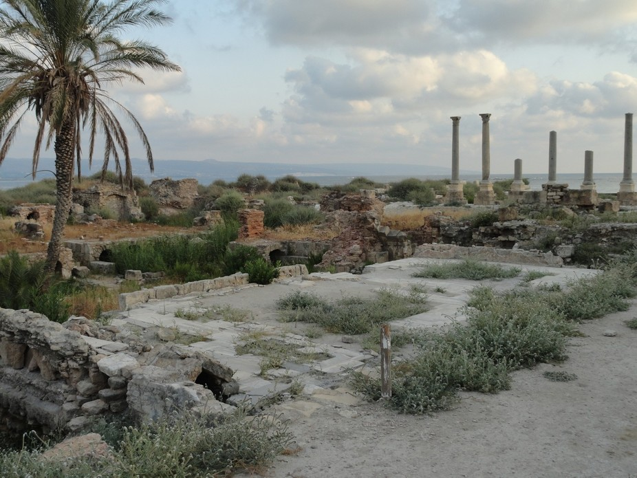 This image of the ancient Phoenician ruins is left undisturbed by modern architecture. Because of...