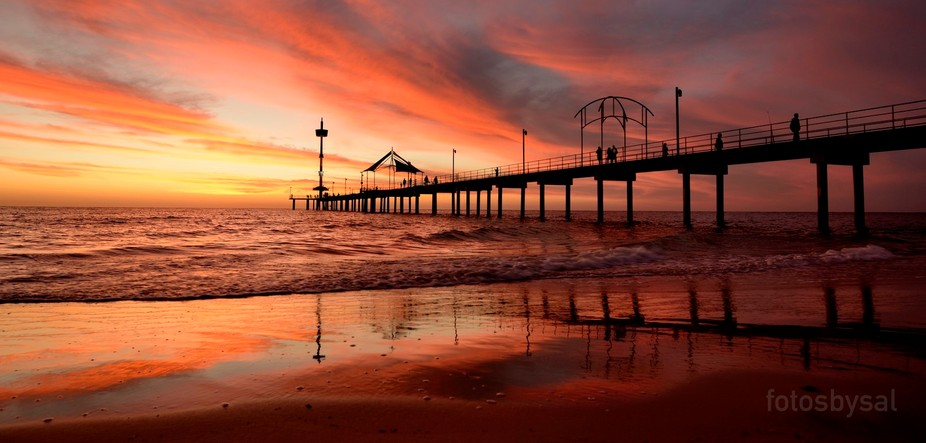 One of the best sunsets from the Long Weekend, taken at Brighton Jetty, South Australia. Named th...