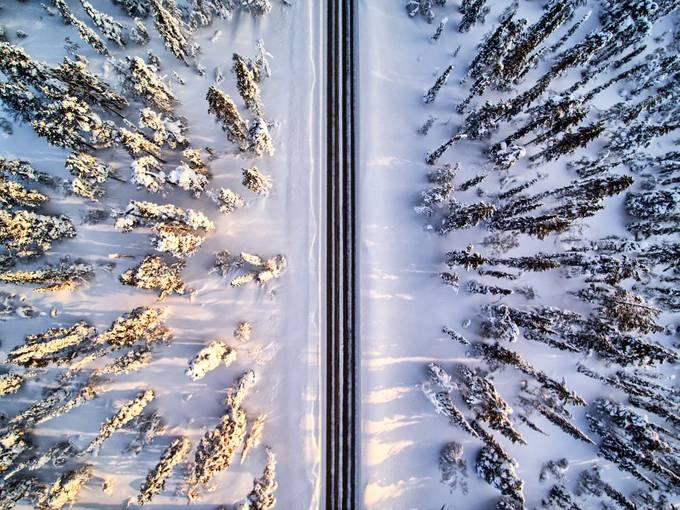 Ylläs Scenic Road by timoksanen - Above Or Below Photo Contest