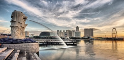 Merlion in the morning