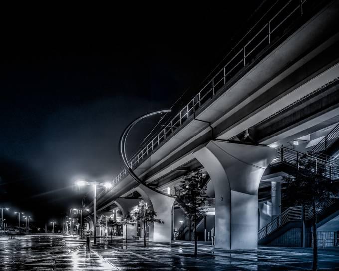 A Wet Dark Night by leewright_0459 - Public Transport Hubs Photo Contest