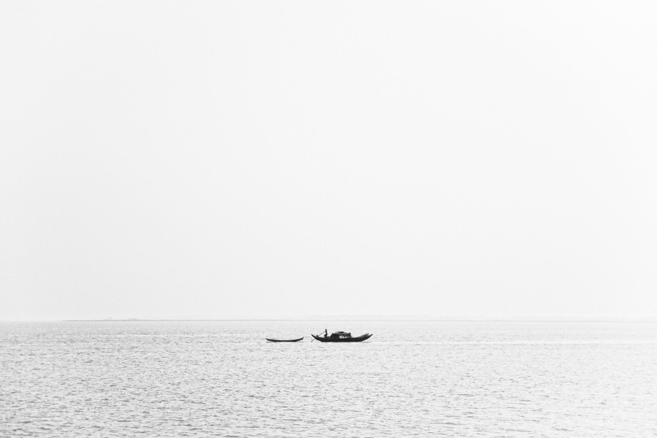 Fishing is a common profession of people who live at coastal areas of Bangladesh. A fisherman wit...